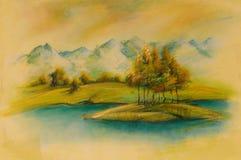 Krajobrazy, sztuka produkt Zdjęcie Stock