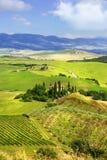 Krajobrazy Tuscany Włochy zdjęcie royalty free