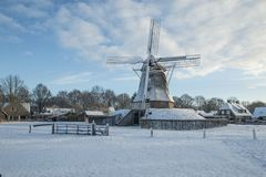 Krajobrazy w holandiach, holenderów krajobrazy fotografia royalty free