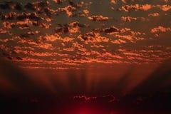 Krajobrazy z zadziwiać chmury zdjęcie stock