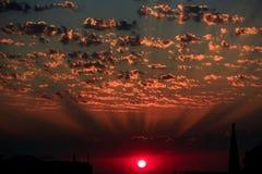 Krajobrazy z zadziwiać chmury obraz royalty free