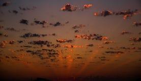 Krajobrazy z zadziwiać chmury zdjęcia stock