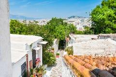 Krajowa architektura w Ateny, Grecja Obrazy Royalty Free