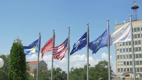 Krajowa biblioteka Kosowo flaga zdjęcie wideo