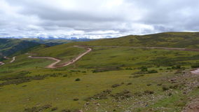 Krajowa droga No.318 w Chiny sposób Lhasa, Tybet, Chiny Fotografia Stock