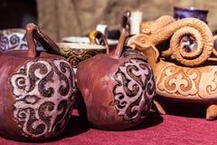 Krajowa kazach pamiątka - jabłczany Almaty Fotografia Royalty Free