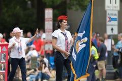 Krajowa Memorial Day parada obrazy royalty free