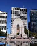 Krajowa Rezerwowych sił dnia parada przy ANZAC pomnikiem Fotografia Stock