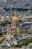 Krajowa siedziba Invalids w Paryskim Francja zdjęcie royalty free