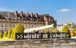 Krajowa siedziba wojska muzeum w Paryż i Invalids obrazy royalty free