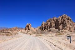 Krajowa trasa 40, quebrada De Las Flechas, łamać strzała, Salto, Cafayate, Argentyna Zdjęcie Royalty Free