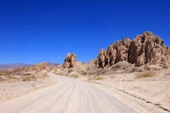Krajowa trasa 40, quebrada De Las Flechas, łamać strzała, Salto, Cafayate, Argentyna Zdjęcia Royalty Free