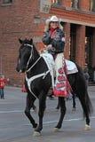 Krajowa westernu zapasu przedstawienia parada zdjęcie royalty free