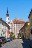Krajowi archiwa Węgry w Grodowym okręgu - Budapest zdjęcia stock