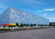Krajowy Aquatics Center- Wody Sześcian w Pekin Zdjęcie Stock