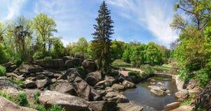 Krajowy dendrological parkowy ` Sofiyivka `, Uman, Ukraina Sofiyivka jest scenicznym punktem zwrotnym światowy ogrodnictwo projek Obraz Royalty Free