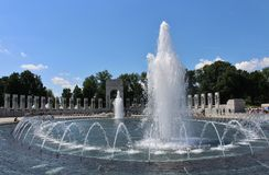 Krajowy druga wojna światowa pomnik, washington dc Zdjęcia Royalty Free
