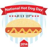 Krajowy hot dog dzień royalty ilustracja