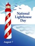 Krajowy latarnia morska dzień Zdjęcia Royalty Free