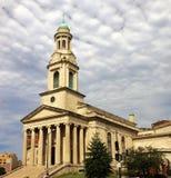 Krajowy miasto kościół chrześcijański Zdjęcia Royalty Free