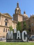 Krajowy muzeum sztuki Catalonia w Barcelona fotografia royalty free