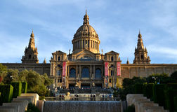 Krajowy muzeum sztuki Catalonia w Barcelona, Hiszpania Fotografia Royalty Free