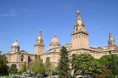 Krajowy muzeum sztuki Catalonia w Barcelona, Hiszpania Obrazy Royalty Free