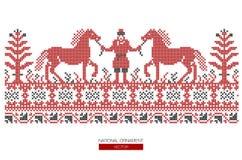 Krajowy ornamentu tło Obrazy Royalty Free