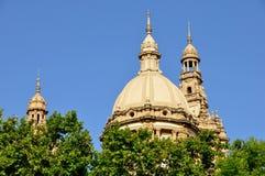 Krajowy pałac w Barcelona Obrazy Royalty Free