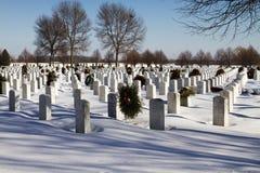 Krajowy Pamiątkowy Militarny cmentarz Zdjęcia Royalty Free