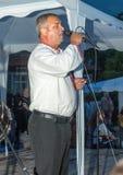 Krajowy piosenkarz przy Nestenar grami w wiosce Bulgarians, Bułgaria Zdjęcia Royalty Free