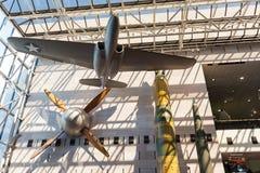 Krajowy powietrze i Astronautyczny muzeum w washington dc wnętrzu Obrazy Royalty Free