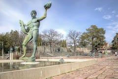 Krajowy rzeźba park Millesgarden w Sztokholm Zdjęcie Royalty Free