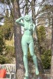 Krajowy rzeźba park Millesgarden w Sztokholm Fotografia Stock