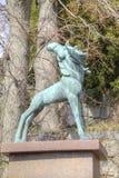 Krajowy rzeźba park Millesgarden w Sztokholm Zdjęcie Stock