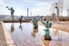 Krajowy rzeźba park Millesgarden w Sztokholm Zdjęcia Stock