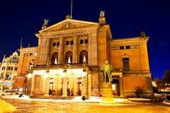 Krajowy teatr Oslo obrazy stock