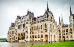 Krajowy Węgierski parlamentu budynku wejście Zdjęcie Stock