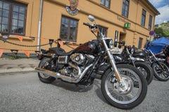 Krajowy wieprza wiec Halden, Norwegia 12, 15 Czerwiec 2014 (rowery) Zdjęcie Stock