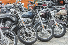 Krajowy wieprza wiec Halden, Norwegia 12, 15 Czerwiec 2014 (rowery) Zdjęcia Stock