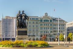 Krajowy zabytek w Angielskim ogródzie Genewa Fotografia Royalty Free