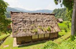 Krajowy zaufania dziedzictwa centrum w Ogimachi wiosce, Japonia Zdjęcie Royalty Free