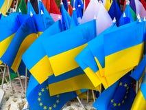 Krajowych symboli/lów flaga barwi Europe Ukraine Zdjęcie Stock