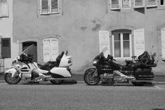 Krajoznawczy motocykl Honda Goldwing Obraz Stock