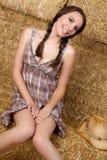 kraju dziewczyny ja target431_0_ Zdjęcie Royalty Free