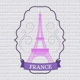Kraju Francja etykietki ustalony szablon emblemata element dla twój produktu, projekta, sieci lub wiszącej ozdoby zastosowań z te Zdjęcia Royalty Free