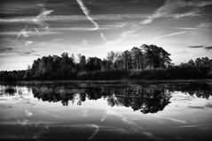 kraju jezioro zdjęcia stock