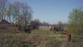 Kraju krajobraz Fura jest w podwórko wioska dom 4K zdjęcie wideo