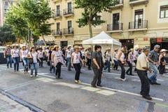 Kraju Kreskowy taniec, Barcelona Obraz Royalty Free