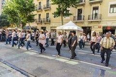 Kraju Kreskowy taniec, Barcelona Fotografia Royalty Free